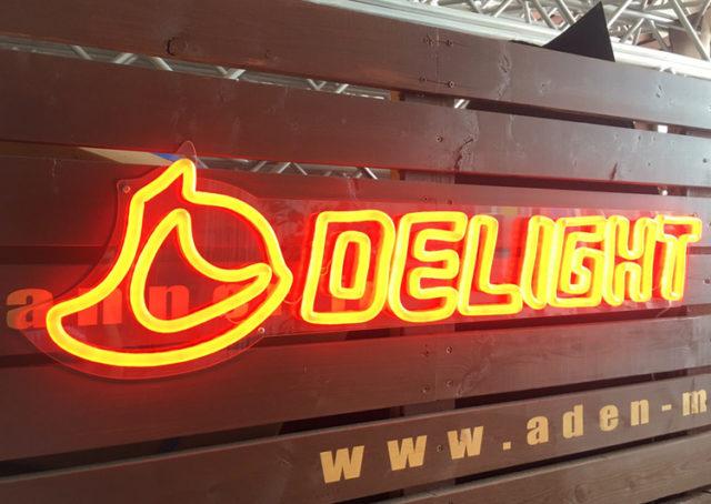 LEDサインメーカーDELIGHTからネオン風LEDサイン登場