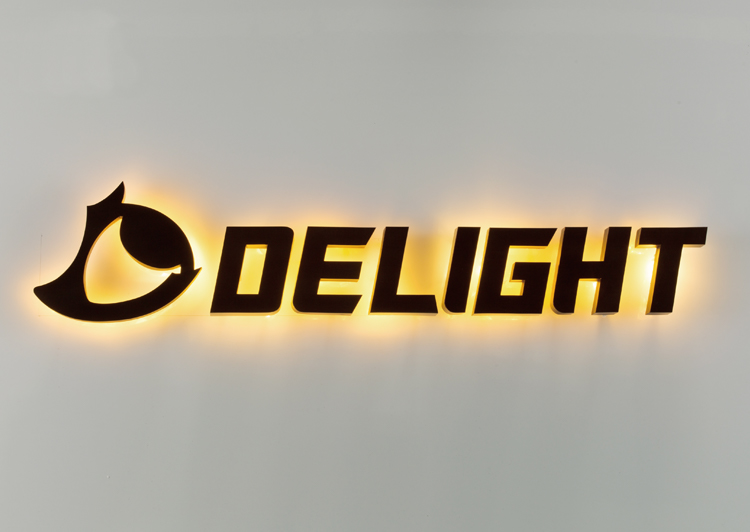 LEDサイン 背面発光 Back Lit BL DELIGHT