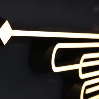 LEDサイン発光している部分の様子
